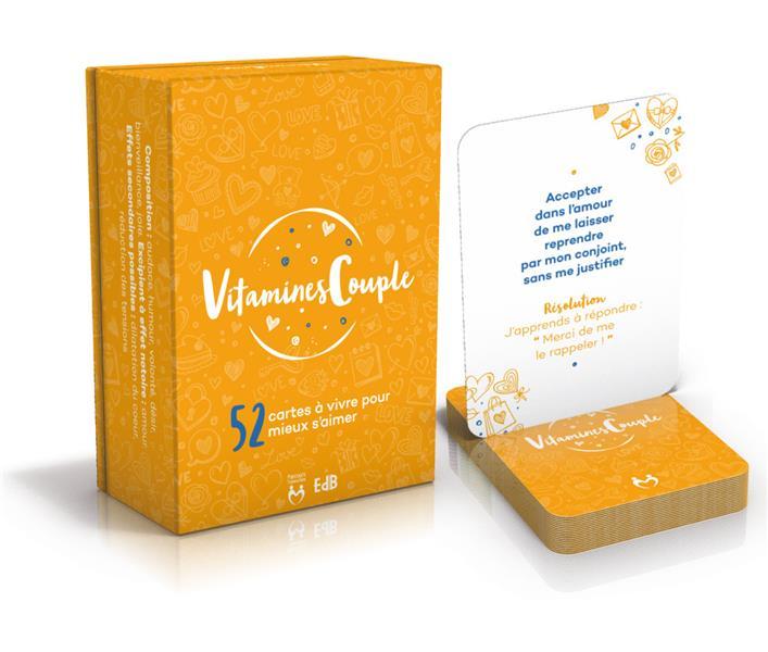 """CARTES """"VITAMINES COUPLES"""" : 52 CARTES A VIVRE POUR MIEUX S'AIMER"""