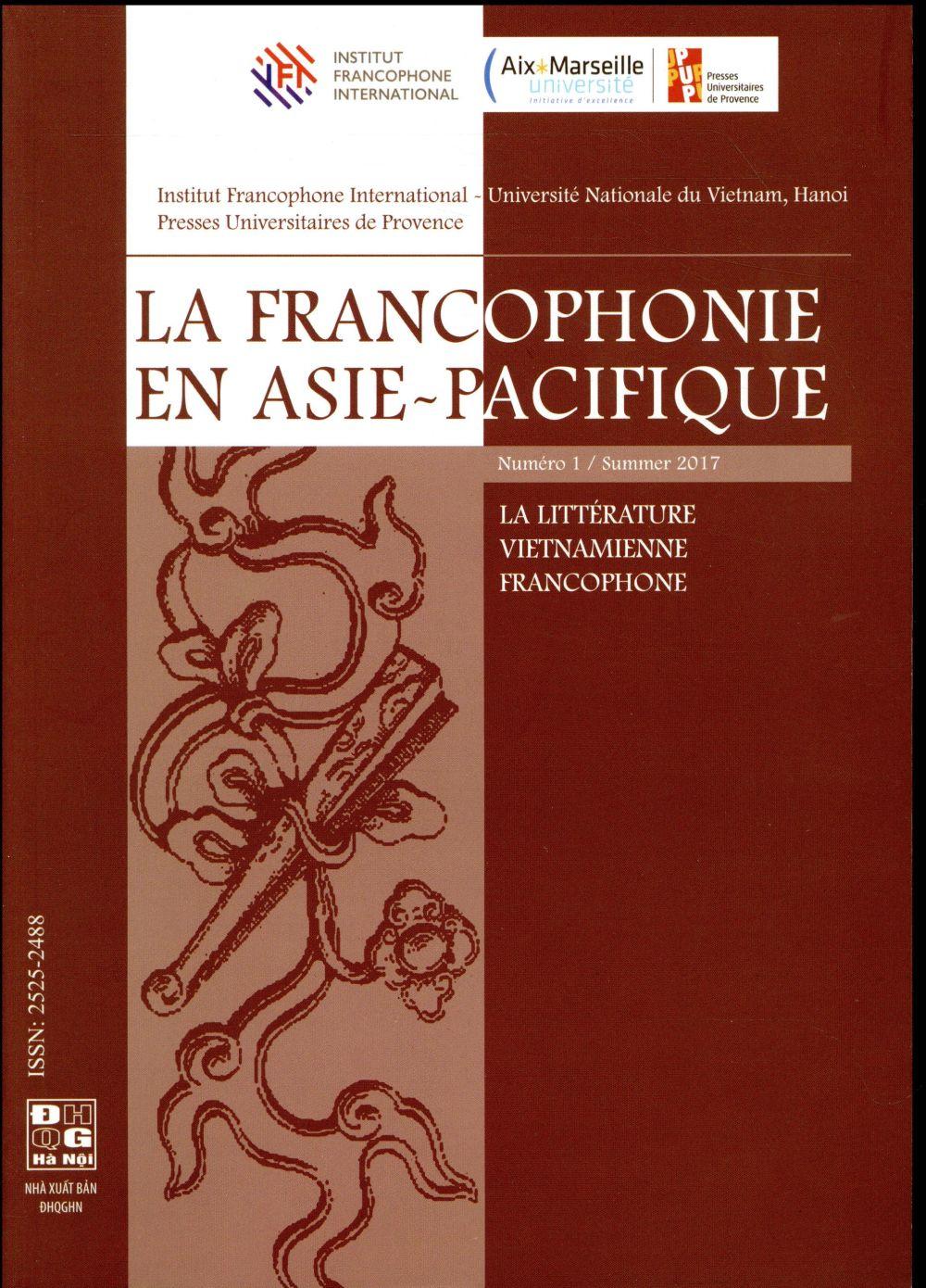 LA LITTERATURE VIETNAMIENNE FRANCOPHONE