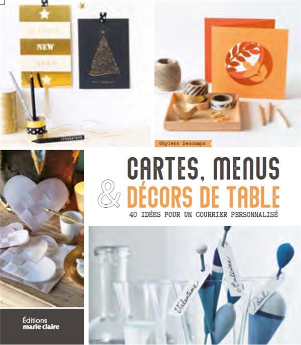 CARTES, MENUS ET DECORS DE TABLE