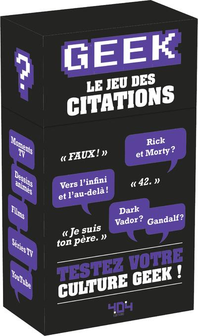 BOITE A QUESTIONS  CITATIONS GEEK LEVEL 2