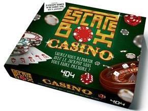 ESCAPE BOX CASINO - ESCAPE GAME ADULTE DE 3 A 6 JOUEURS - DES 14 ANS ET ADULTE