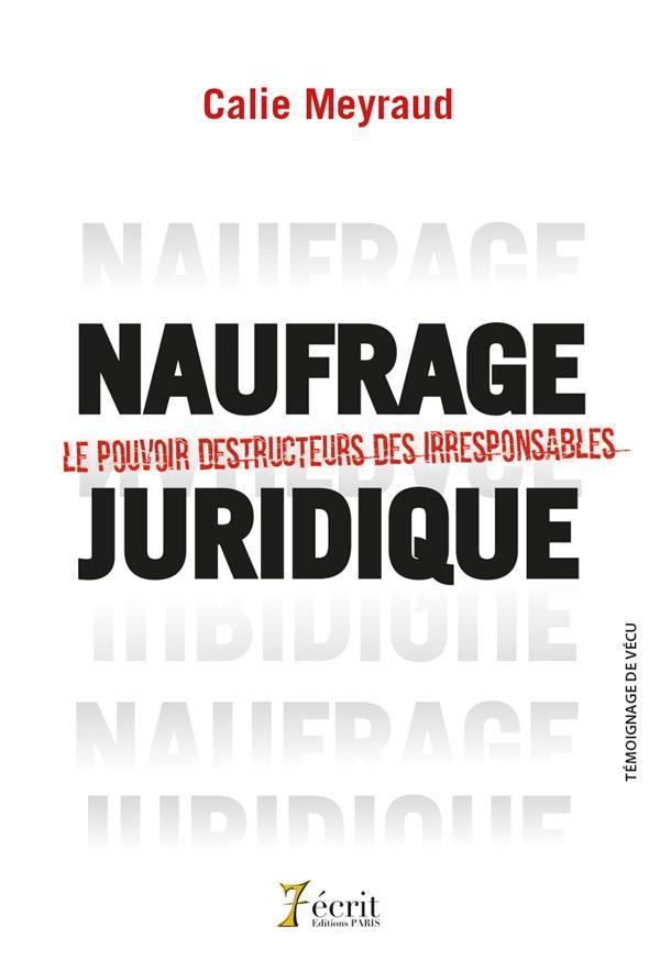 NAUFRAGE JURIDIQUE - LE POUVOIR DESTRUCTEUR DES IRRESPONSABLES