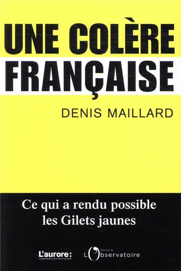 COLERE FRANCAISE (UNE)