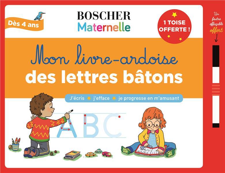 MON LIVRE-ARDOISE DES LETTRES BATONS