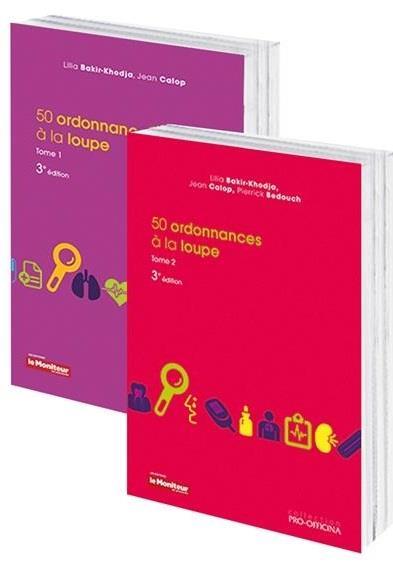 PACK 50 ORDONNANCES A LA LOUPE TOM 1 ET 2 3EME ED