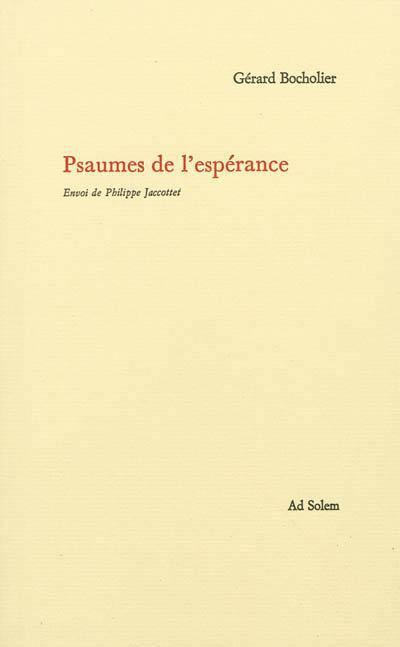 LES PSAUMES DE L'ESPERANCE