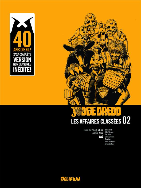 JUDGE DREDD, AFFAIRES CLASSEES 2