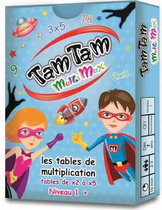 TAM TAM MULTIMAX 1 - LES TABLES DE MULTIPLICATION DE X2 A X5  JEU DE CARTES