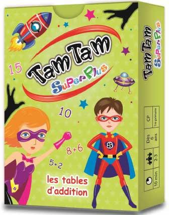 TAM TAM SUPERPLUS - LES TABLES D'ADDITION  JEU DE CARTES