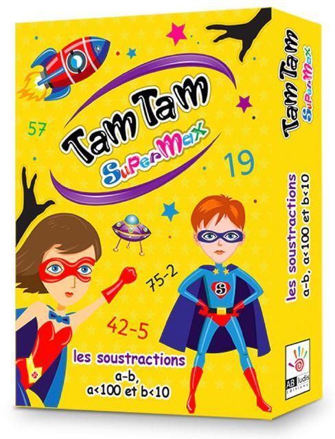 TAM TAM SUPERMAX - LES SOUSTRACTIONS (PRIMAIRE CE1 - CE2 - CM1 - CM2) - A - B , A < 100  ET B <10