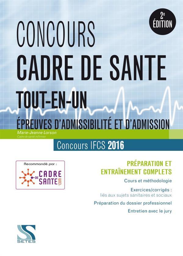 CONCOURS CADRE DE SANTE 2016 - TOUT-EN-UN
