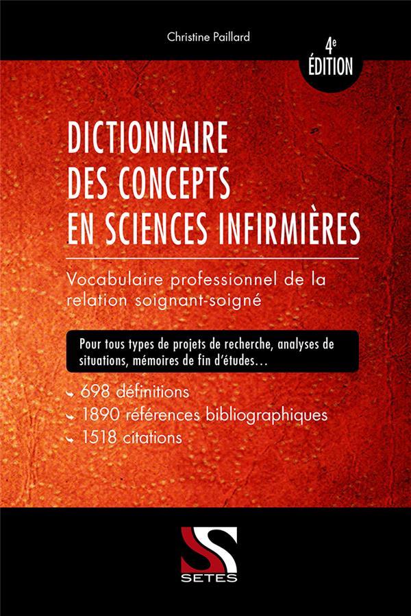 DICTIONNAIRE DES CONCEPTS EN SCIENCES INFIMIERES