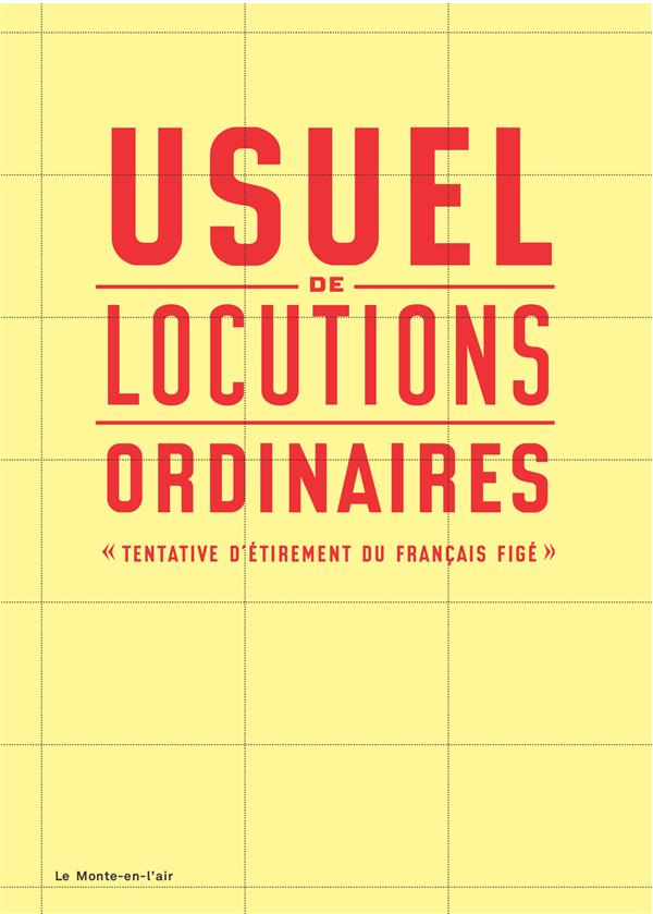 USUEL DE LOCUTIONS ORDINAIRES