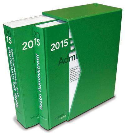 COFFRET - BOTTIN DES COMMUNES ET BOTTIN ADMINISTRATIF 2015 V1 ET V2