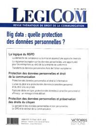 LEGICOM N 59. BIG DATA, QUELLE PROTECTION DES DONNEES PERSONNELLES ?-T1