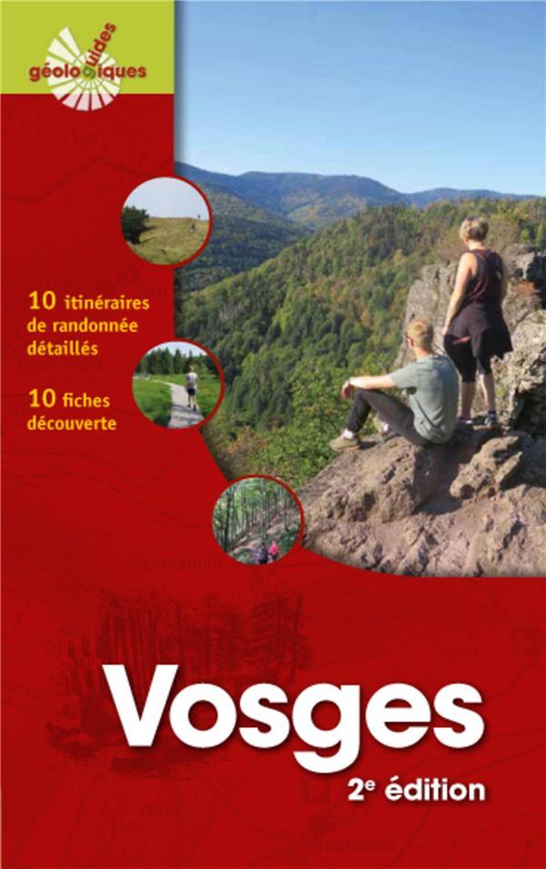 VOSGES - 10 ITINERAIRES DE RANDONNEES DETAILLES. 10 FICHES DECOUVERTE