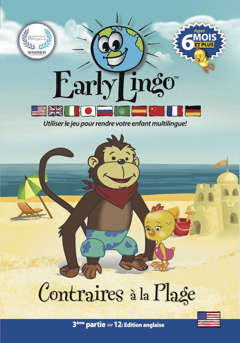 EARLY ANGLAIS 3 - CONTRAIRES A LA PLAGE - DVD