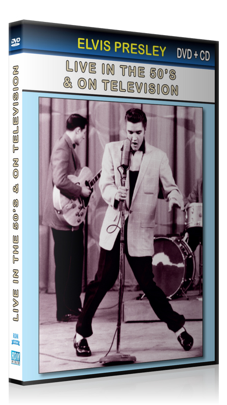 ELVIS PRESLEY LIVE IN THE 50'S & ON TELEVISION - DVD + CD