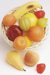 ALIMENTS EN PLASTIQUE - CORBEILLE DE FRUITS