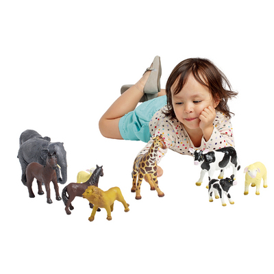 ELEPHANT ET ELEPHANTEAU - ANIMAUX SOUPLES