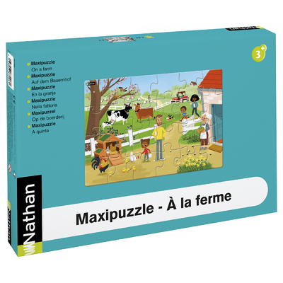 MAXIPUZZLE CARTON - A LA FERME