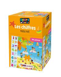 RECRE EN'BOITE LES CHIFFRES - PUZZLE FUTE 84 PIECES DES 4 ANS