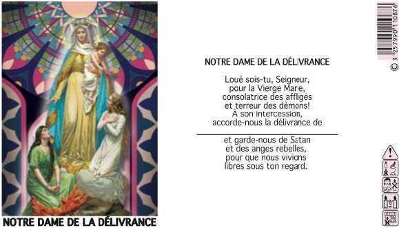 NEUVAINE VITRAIL : NOTRE DAME DE LOURDES REF 36L5101