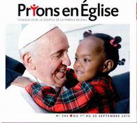 PRIONS POCHE EN EGLISE N345 SEPTEMBRE 2015