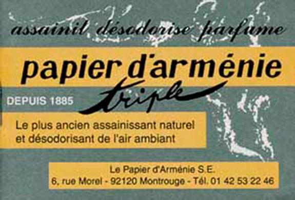 PAPIER D'ARMENIE - CARNET TRADITION
