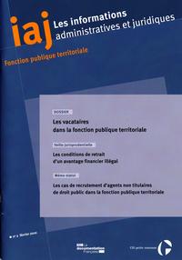 LES VACATAIRES DANS LA FONCTION PUBLIQUE TERRITORIALE N 2 FEVRIER 2010