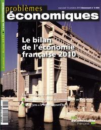 BILAN DE L'ECONOMIE FRANCAISE 2010