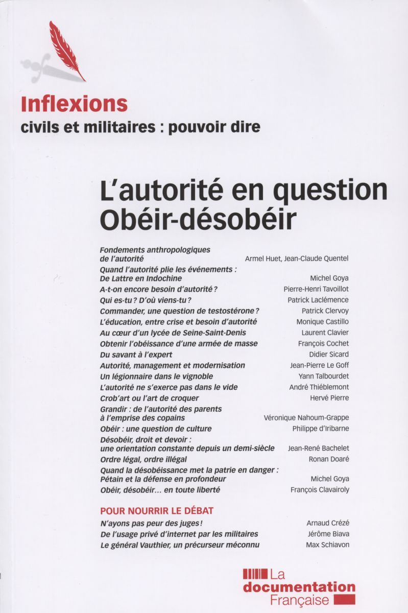 L'AUTORITE EN QUESTION - OBEIR, DESOBEIR