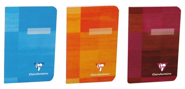 Clairefontaine 'Metric' Pocket Notebook (Carnet) - 9x14cm, Staple Bound, 5x5 (grid) - 96p (Assorted Colours)