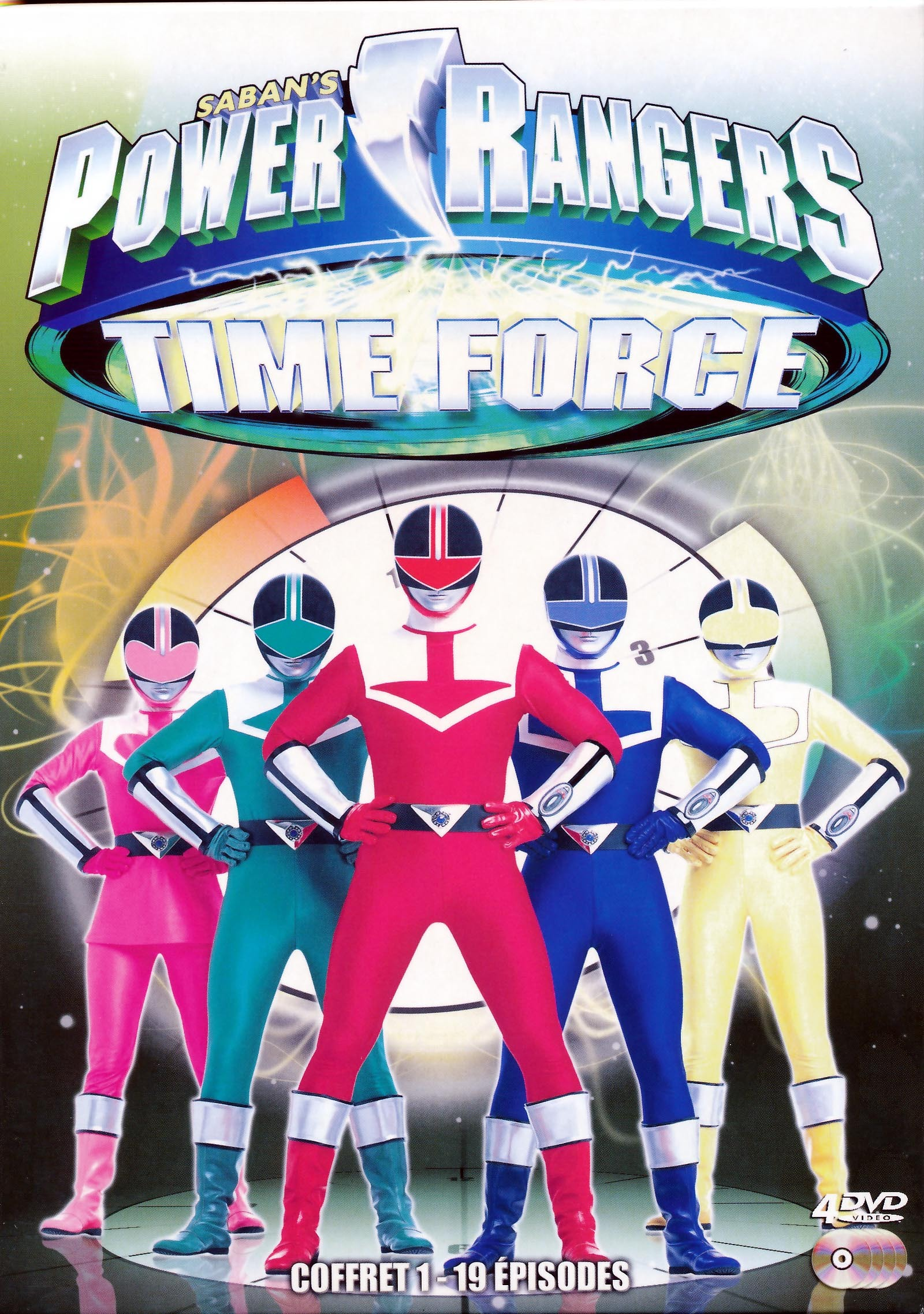 POWER RANGERS TIME FORCE 1 - 4 DVD