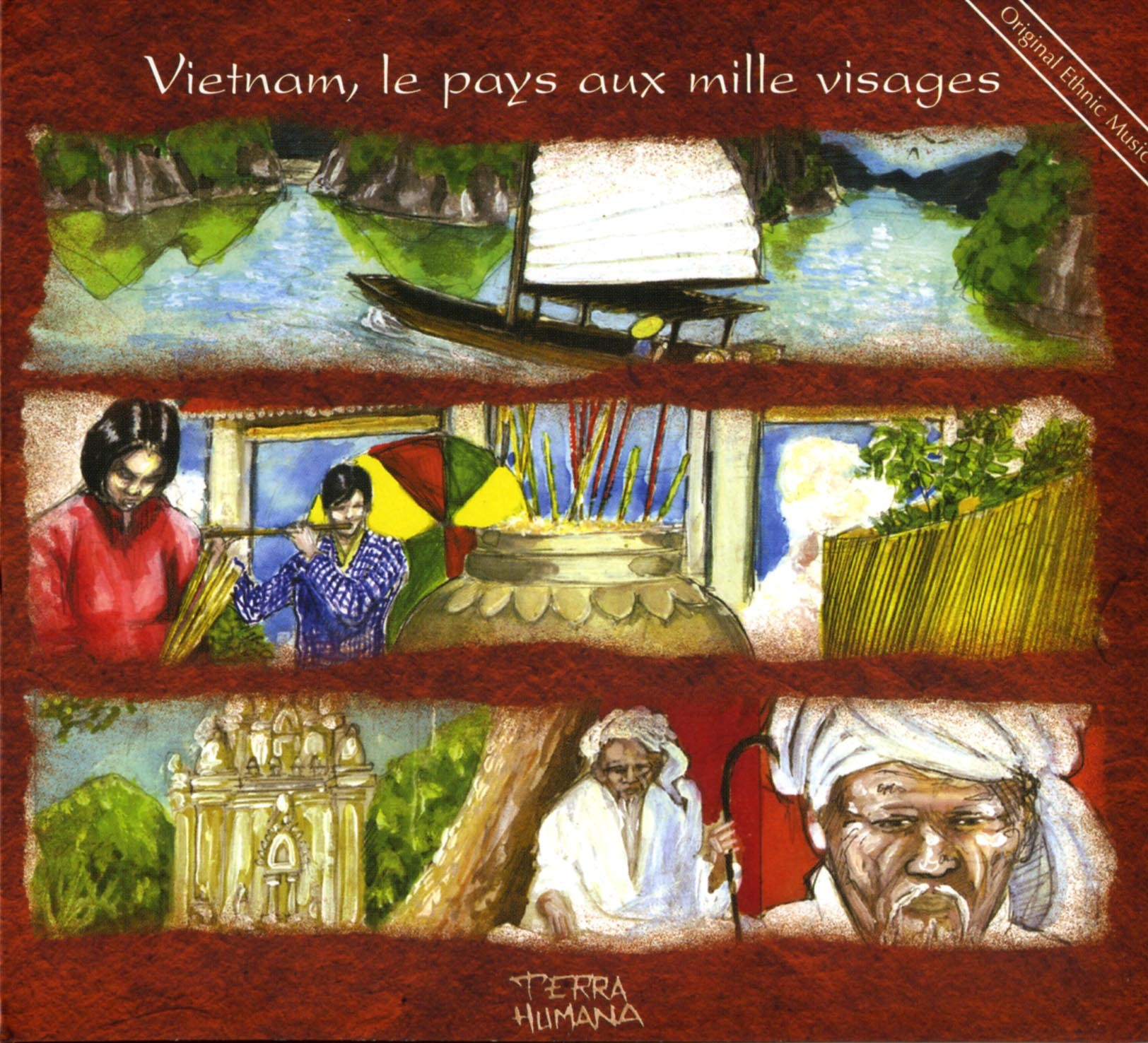 VIETNAM, PAYS MILLE VISAGES-CD  ORIGINAL ETHNIC MUSIC