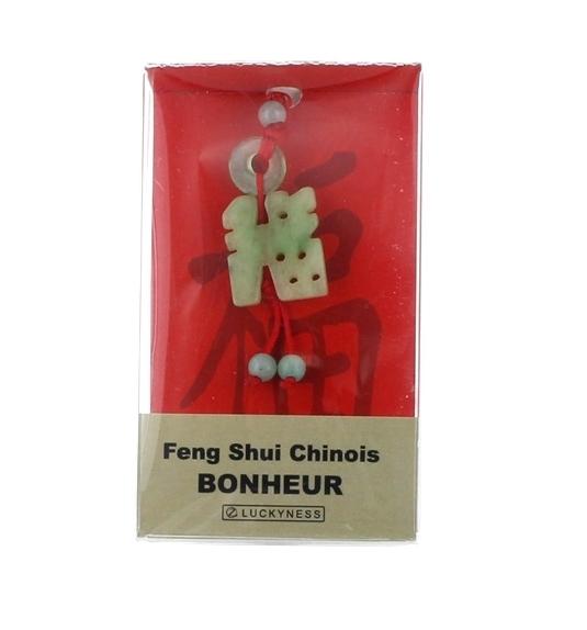 PORTE-BONHEUR FENG-SHUI JADE BONHEUR ET CHANCE