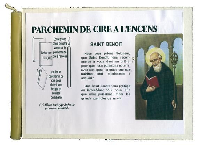 PARCHEMIN DE CIRE A L'ENCENS - SAINT BENOIT