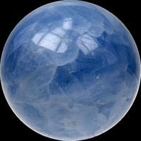 SPHERE CALCITE BLEUE MADAGASCAR - 6 CM