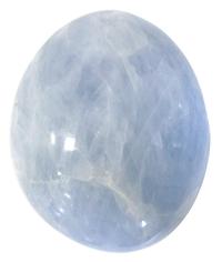 GALET 4 A 6 CM - CALCITE BLEUE
