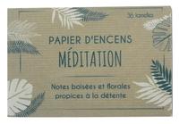 CARNET DE PAPIER D'ENCENS MEDITATION
