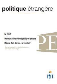 POLITIQUE ETRANGERE N  2/2009