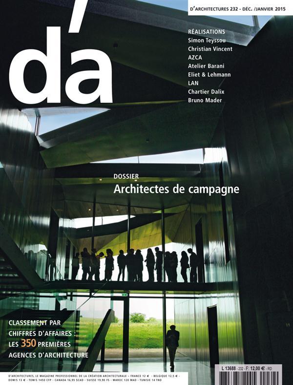 D'ARCHITECTURES D'A N 232 ARCHITECTURES DE CAMPAGNE