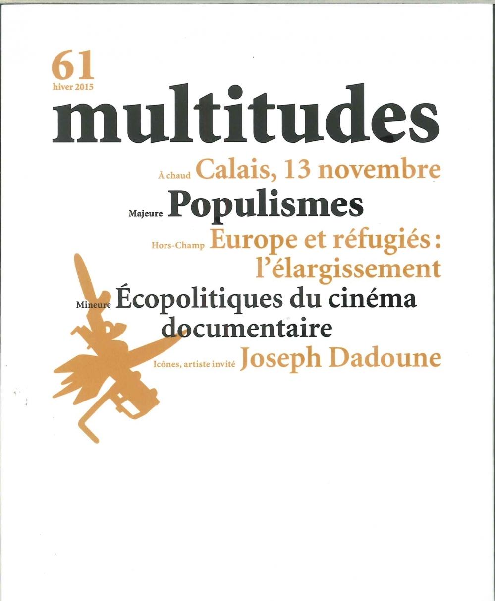 MULTITUDES N 61 POPULISMES HIVER 2015