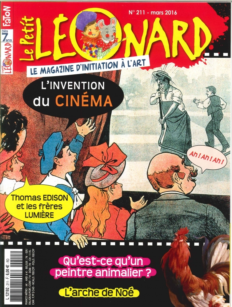 LE PETIT LEONARD N 211 L'INVENTION DU CINEMA MARS 2016