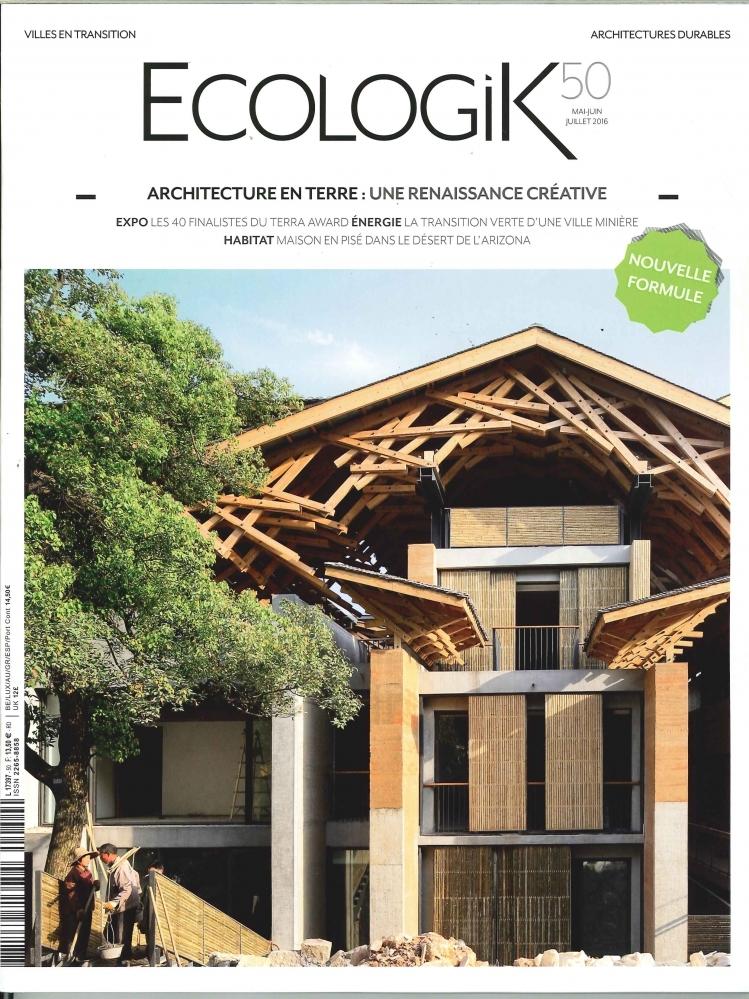 ECOLOGIK N 50 ARCHITECTURE EN TERRE  MAI 2016