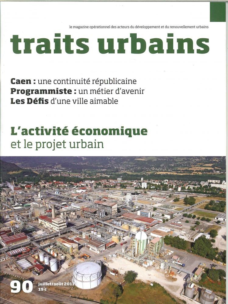 TRAITS URBAINS N 90  ACTIVITE ECONOMIQUE  AOUT/SEPTEMBRE 2017 -