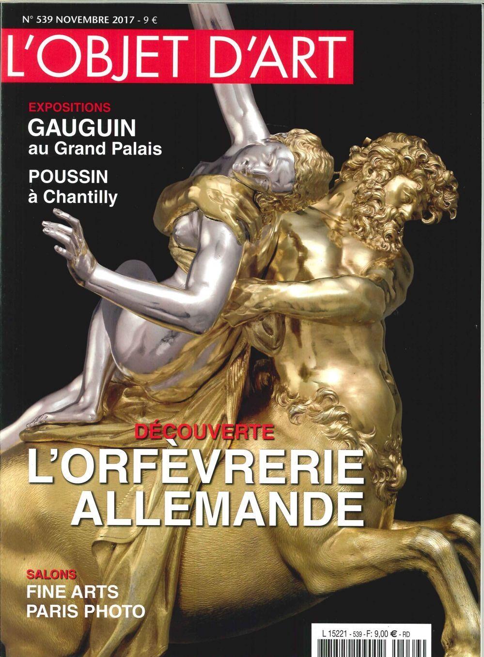 L'OBJET D'ART N 539 GAUGUIN  NOVEMBRE 2017