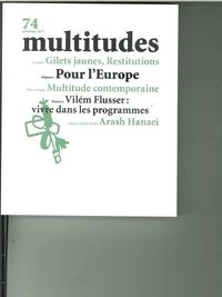 MULTITUDES N 74  POUR L'EUROPE - AVRIL 2019