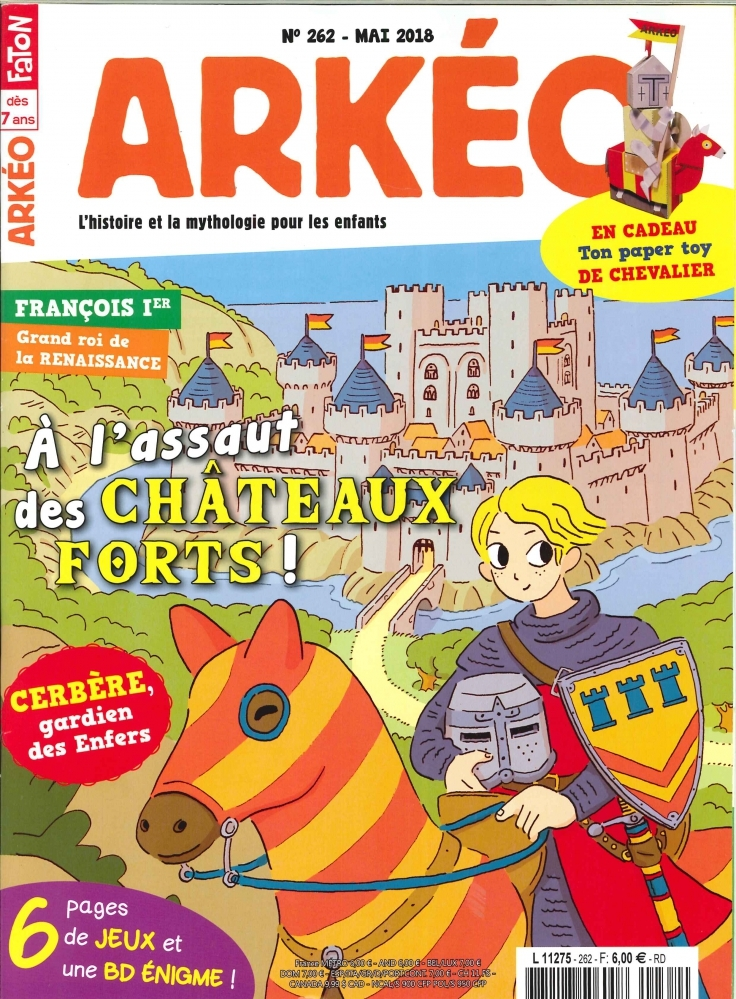 ARKEO JUNIOR N 262 CHATEAUX FORTS  - MAI 2018
