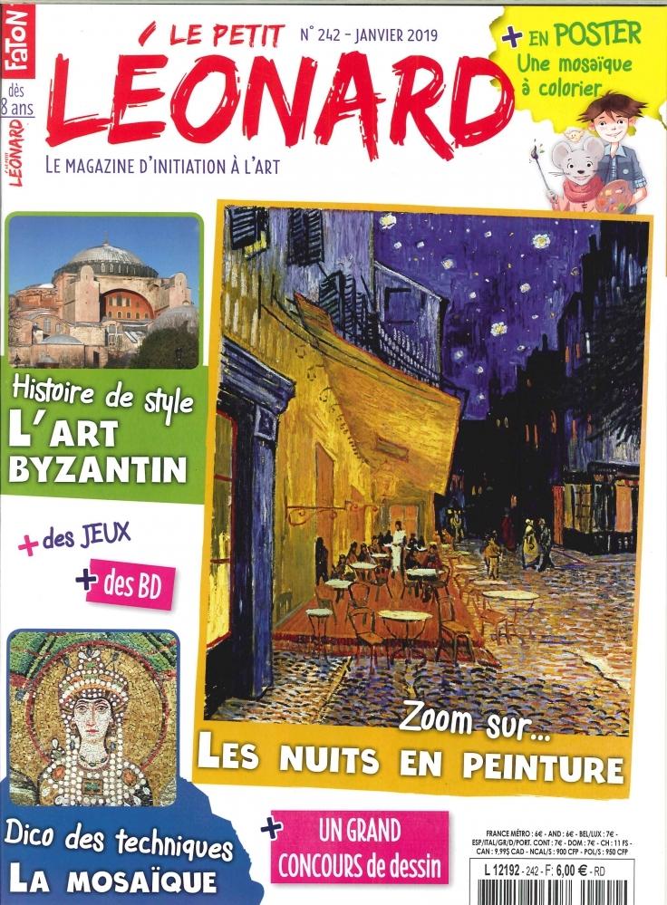LE PETIT LEONARD N 242 L'ART BYZANTIN - JANVIER 2019